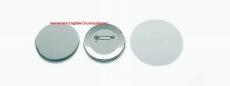 Buttonrohmaterial mit  Sicherheitsnadel 59 mm Ø