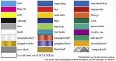 Summa Durachrome Metallic-Farbbänder für DC-3, DC-4, DC-5, DC-5
