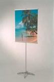 Poster-Display einseitig, stufenlos in der Höhe einstellbar bis