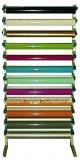 Folien-Rollenhalter  für Wandmontage für 12 Rollen Breite 132 cm