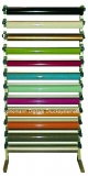 Folien-Rollenhalter  für Wandmontage für 12 Rollen Breite 142 cm
