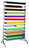 Folienhalter rollbar für 10 Rollen/Seite max. Rollenbreite 102 c